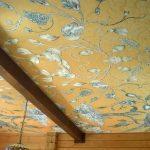 Интересный тканевый потолок